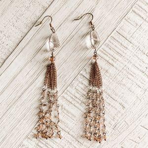 💙3/$12 Francesca's Gold Dangle Earrings